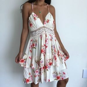 NEW Favlux floral tiered boho dress